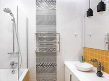 Квартира « Квартира 99м2, ул. Угрешская, г. Дзержинский, МО», ванная . Фото № 27162, автор Уразметов Рустэм