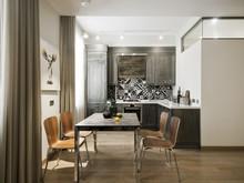 Квартира «Квартира 67,7 м2, ул. 3-я Песчаная, Москва», кухня . Фото № 27178, автор Уразметов Рустэм