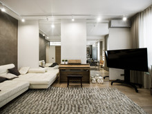 Квартира «Квартира 67,7 м2, ул. 3-я Песчаная, Москва», гостиная . Фото № 27177, автор Уразметов Рустэм