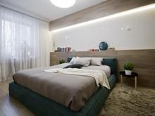 Квартира «Квартира 67,7 м2, ул. 3-я Песчаная, Москва», спальня . Фото № 27176, автор Уразметов Рустэм