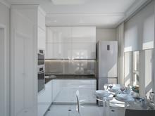 Квартира «Квартира г.Москва», кухня . Фото № 27186, автор Андреева Анастасия