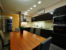 Квартира «Фешенебельная квартира с панорамным», кухня . Фото № 27196, автор Коваленко Андрей