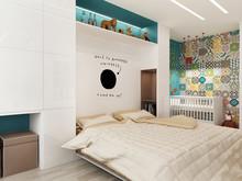 Квартира «Квартира 55м2, ул.Профсоюзная, Москва», спальня . Фото № 27202, автор Уразметов Рустэм