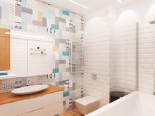 Квартира «Квартира 55м2, ул.Профсоюзная, Москва», ванная . Фото № 27204, автор Уразметов Рустэм