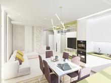 Квартира «Квартира для молодой семьи», гостиная . Фото № 27205, автор Мазайтис Евгения