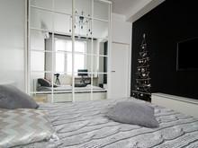 Квартира «Квартира 50 м2, г.Москва, Большой Афанасьевский переулок», спальня . Фото № 27210, автор Уразметов Рустэм