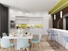 Квартира «Квартира 170 м2, ул. Дмитрия Ульянова, Москва», кухня . Фото № 27226, автор Уразметов Рустэм