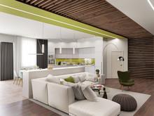 Квартира «Квартира 170 м2, ул. Дмитрия Ульянова, Москва», гостиная . Фото № 27224, автор Уразметов Рустэм