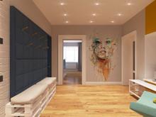 Квартира «Живописный лофт», прихожая . Фото № 27240, автор Леонова Алина