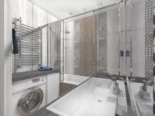 Квартира «СОВРЕМЕННЫЙ УЮТ», ванная . Фото № 27245, автор Бутунина Олеся