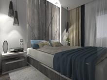 Квартира «СОВРЕМЕННЫЙ УЮТ», спальня . Фото № 27243, автор Бутунина Олеся