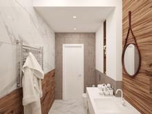 Квартира «ПРОЕКТ ИЗУМРУД НА ПАРКОВОЙ», ванная . Фото № 27249, автор Vsrede Interior Design
