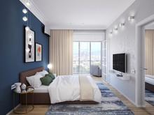 Квартира «ПРОЕКТ ИЗУМРУД НА ПАРКОВОЙ», спальня . Фото № 27250, автор Vsrede Interior Design