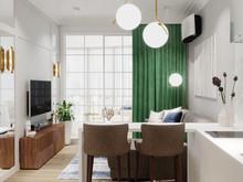 Квартира «ПРОЕКТ ИЗУМРУД НА ПАРКОВОЙ», гостиная . Фото № 27247, автор Vsrede Interior Design