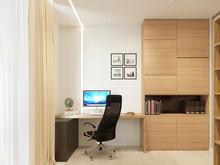 Квартира «Квартира 130 м2, ул. Орловская, Санкт-Петербург», кабинет . Фото № 27259, автор Уразметов Рустэм