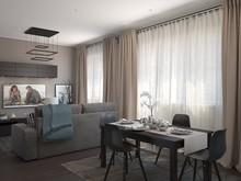 Квартира «Студия», гостиная . Фото № 27273, автор Комаров Дмитрий