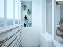 Квартира «Дизайн проект двухкомнатной квартиры, скандинавские мотивы», веранда лоджия . Фото № 27324, автор Хачатрян Дарья