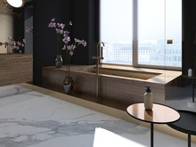 Квартира «Квартира в ЖК Крестовский de luxe», ванная . Фото № 27334, автор background архитектурная студия