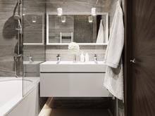 Квартира «Квартира на Ярославском шоссе», ванная . Фото № 27340, автор Жданов Евгений