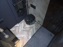 Квартира «Смелый интерьер с мужским характером на площади в 46 квадратных метров.», ванная . Фото № 27377, автор Боков Валерий