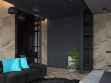 Квартира «Смелый интерьер с мужским характером на площади в 46 квадратных метров.», гостиная . Фото № 27375, автор Боков Валерий