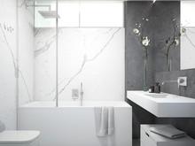 Квартира «Квартира в ЖК Новая скандинавия», ванная . Фото № 27383, автор background архитектурная студия