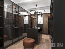 Квартира «Дизайн двухуровневой квартиры в стиле лофт без имитаций», гардеробная . Фото № 27417, автор GM-Interior GM-interior