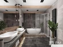 Квартира «Дизайн двухуровневой квартиры в стиле лофт без имитаций», ванная . Фото № 27418, автор GM-Interior GM-interior