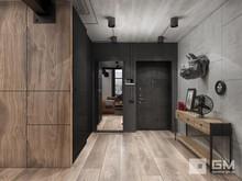Квартира «Дизайн двухуровневой квартиры в стиле лофт без имитаций», прихожая . Фото № 27415, автор GM-Interior