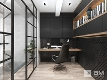 Квартира «Дизайн двухуровневой квартиры в стиле лофт без имитаций», кабинет . Фото № 27416, автор GM-Interior