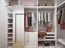Квартира «Современный дизайн двухкомнатной квартиры для молодой девушки-студентки», гардеробная . Фото № 27438, автор GM-Interior GM-interior