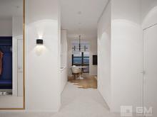 Квартира «Современный дизайн двухкомнатной квартиры для молодой девушки-студентки», коридор . Фото № 27434, автор GM-Interior