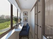 Квартира «Дизайн квартиры в духе американской классики», веранда лоджия . Фото № 27449, автор GM-Interior GM-interior