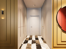 Квартира «Интерьер с ярким характером в конкурсной квартире для Группы Компаний «Садовое кольцо»», коридор . Фото № 27454, автор Duplex Apartment  Интерьерные решения
