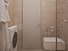 Квартира «Светлый интерьер квартиры-студии с компактной планировкой», ванная . Фото № 27462, автор GM-Interior GM-interior