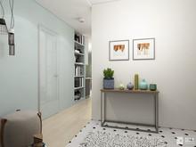 Квартира «Дизайн однокомнатной квартиры 43 кв. м — всё в одном с открытым характером», прихожая . Фото № 27498, автор GM-Interior