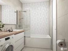 Квартира «Дизайн однокомнатной квартиры 43 кв. м — всё в одном с открытым характером», ванная . Фото № 27499, автор GM-Interior GM-interior