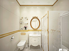 Квартира «Дизайн квартиры в классическом стиле на Остоженке», санузел . Фото № 27513, автор GM-Interior