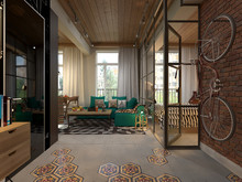 Квартира « Студия в стиле лофт в Москве.», прихожая . Фото № 27517, автор Бойцова Ольга