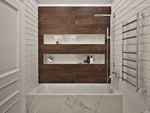 Квартира «Дизайн трёхкомнатной квартиры в скандинавском стиле», ванная . Фото № 27524, автор GM-Interior GM-interior