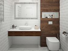 Квартира «Дизайн трёхкомнатной квартиры в скандинавском стиле», санузел . Фото № 27526, автор GM-Interior