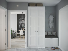 Квартира «Квартира в скандинавском стиле», прихожая . Фото № 27543, автор Бойцова Ольга