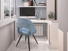 Квартира «Дизайн двухкомнатной квартиры в серо-голубой гамме», веранда лоджия . Фото № 27553, автор GM-Interior GM-interior