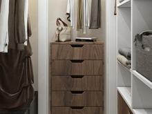Квартира «Дизайн двухкомнатной квартиры в серо-голубой гамме», гардеробная . Фото № 27552, автор GM-Interior GM-interior