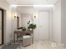 Квартира «Дизайн квартиры: серое вдохновение и элегантное золото», прихожая . Фото № 27594, автор GM-Interior