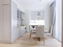 Квартира «Квартира с камином», кухня . Фото № 27598, автор Chvyzh Dmitriy