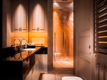 Квартира «GardenQuarters», ванная . Фото № 27630, автор INRE