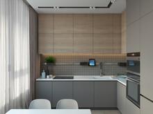 Квартира «Природная симфония», кухня . Фото № 27633, автор Art-i-Сhok