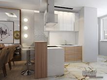 Квартира «Квартира в ЖК Актёр Гэлакси г.Сочи», кухня . Фото № 27693, автор Козлова Екатерина