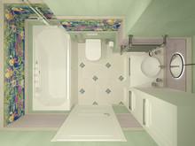 Квартира «Уютная квартира для семьи с 4-мя детьми», ванная . Фото № 27702, автор Efimovykh Elena